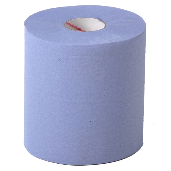 Bulk pack of 2-ply Blue Roll providing a very cost-effective solution for cleaning up spills