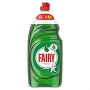 Fairy Liquid Original cuts through grease easily and is kind to your hands. It rinses off easily leaving your dishes streak-free!