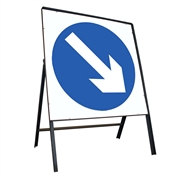Blue Arrow Right Metal Sign