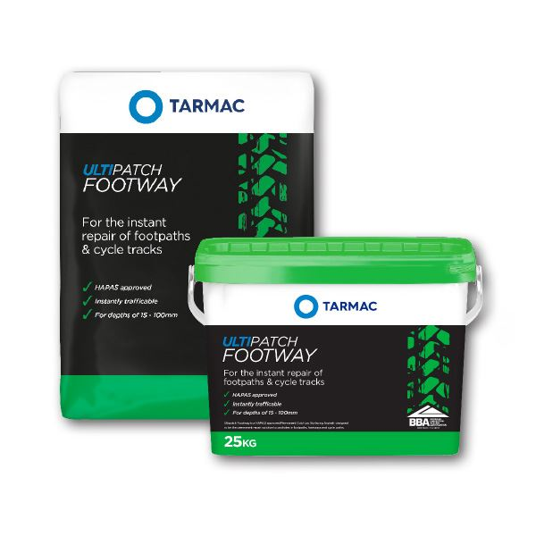 Tarmac Coldlay Ultipatch Footway Pothole repair